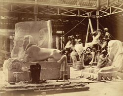 Workshop Of The Egyptian Court, Restoration Of Monuments